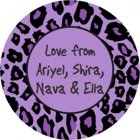 Animal print purple round
