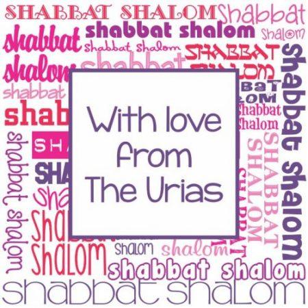 Shabbat Shaloms pinks & purples