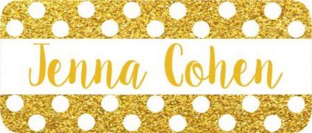 Glitter gold white dots