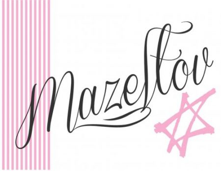 Mazeltov stripes pink