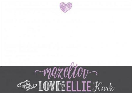 Chalkboard strip lilac