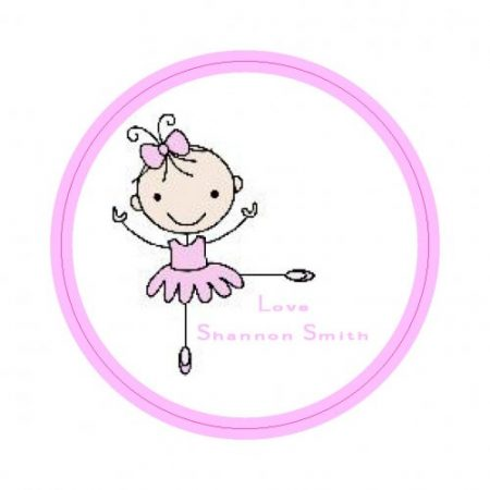 Ballerina cute round