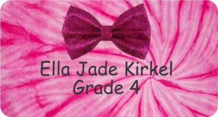 Bow on tie dye pink