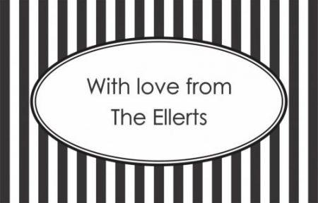 Large oval black & white stripes