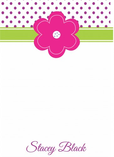 Pretty pink flower on dots