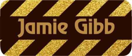 Glitter stripes gold & black