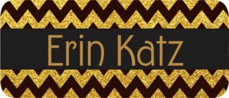 Glitter chevron gold & black
