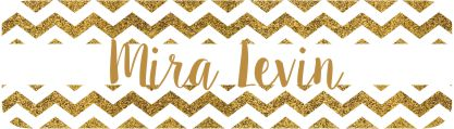 Glitter chevron gold & white
