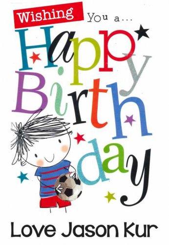 Happy birthday soccer kid