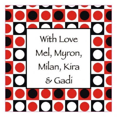 Squares red black white