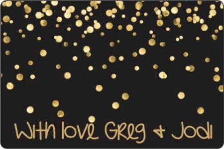 Glitter confetti black