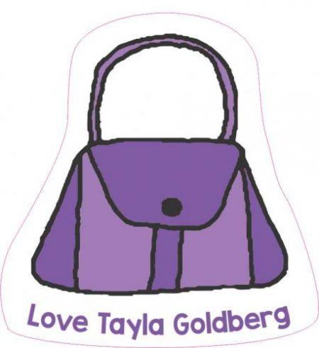 Handbag shapie purple