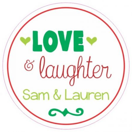 Love & laughter green n red