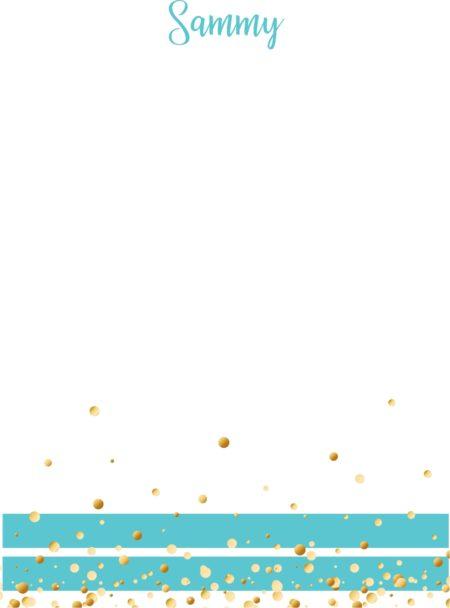 Gold Sprinkles on Aqua