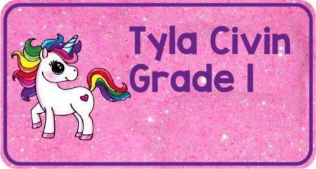 Unicorn on Pink Glitter