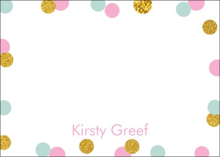 Dots with Glitter Gold