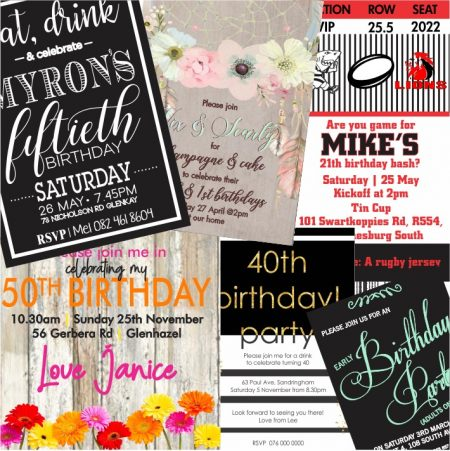 Adults Birthdays